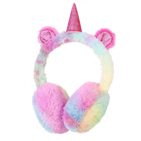 Unicorn Child EarMuffs Fashion Winter Lovely Thick Plush Unicorn Earmuffs Solid Color Ear Warmers, Fun,Interior Design Genie ,