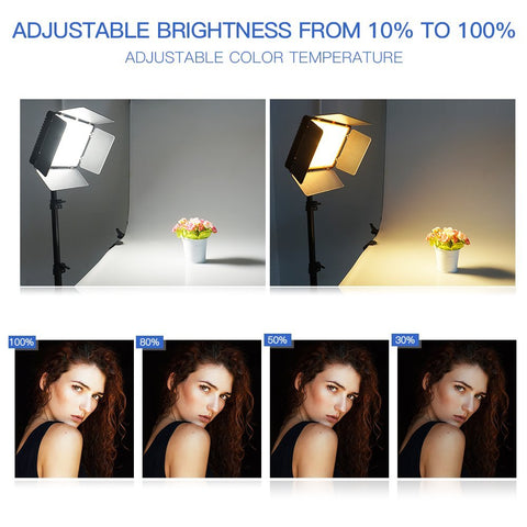 2 Spash TL-600S Studio Light LED Video Youtube Shoot 600 Beads 25W CRI90 Photo Lamp+200cm Tripod - Interior Design Genie