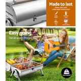 BBQ Portable Outdoor back Yard Camping for Charcoal Barbeque Smoker Foldable