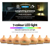 Diffuser with lights adjustable for 300ml humidifier purifier night light Mist Aroma dispenser - Light Wood