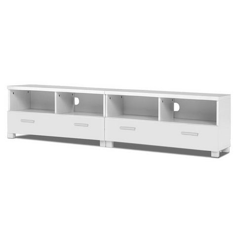 Stand Cabinet for Storage media devices Unit 180cm with Drawers - White