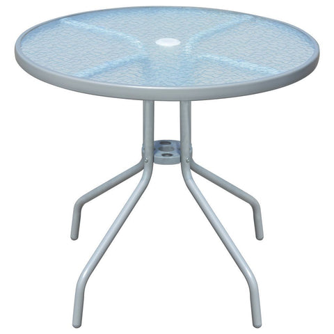 "Table Round Small Glass And Metal ""joltrasmagla"""