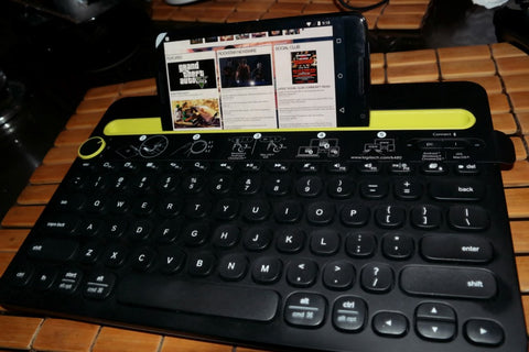 Keyboard Wireless Connect Many Devices and Type  jol3devtyp
