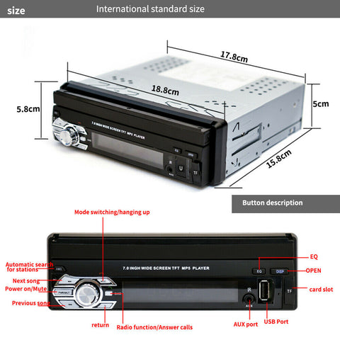 Car Audio 1 DIN BT connect - FLIP and USE   jolcarand81B