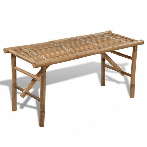 Natural Materials Bench Practical Foldable Bamboo