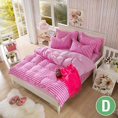 Set Cover And 2 Pillows Pink Double Size