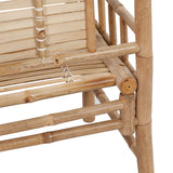 Natural Materials Bench Durable jolkallato Bamboo (_