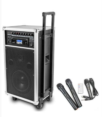 Portable Karaoke Battery Singing PA System x3 Mics