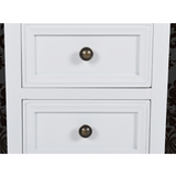 Side Tables Classic Store And Drawers White