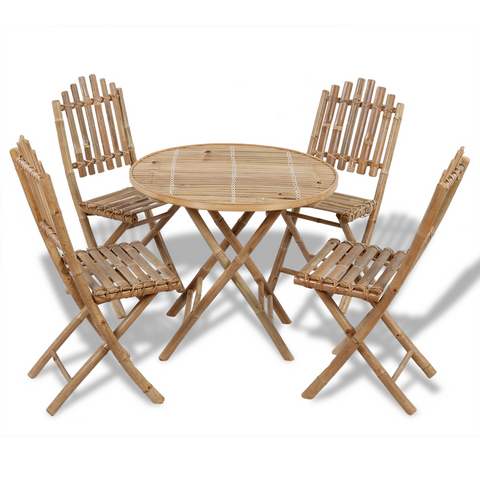 Natural Materials Table Set And Chairs  Bamboo Folding