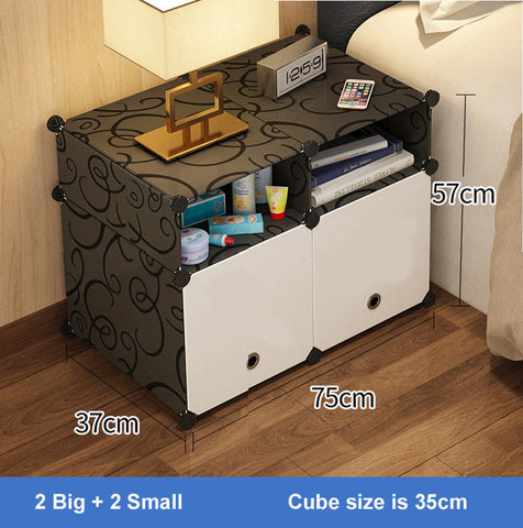 Storage Table Stand PVC and metal frame Bed Side Storage