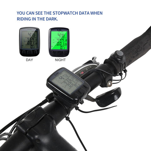 Bike Wired Bicycle LCD Backlight Trip Info