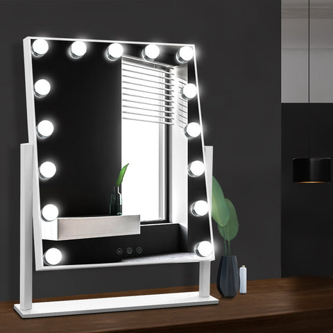 Mirror Makeup Mirror with 15 Dimmable Bulb Lighted Dressing Mirror