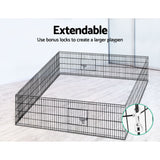 "Cage enclosure 16 Parts Pet Exercise Cage Enclosure 2X24"" Fence Play Pen 16 x (62cm x 60cm each )"