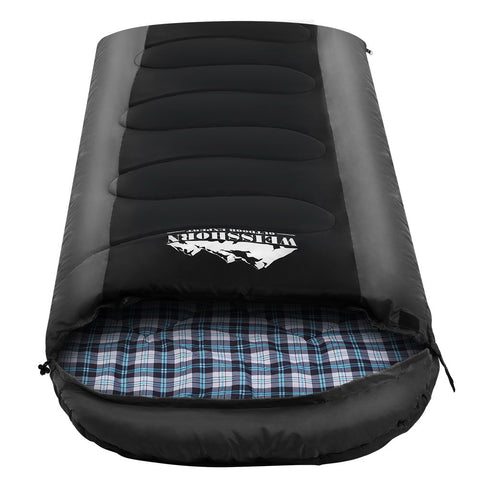 Sleeping Bag Bags Single Camping Hiking -20°C to 10°C Tent Winter Thermal Grey