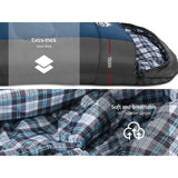 Sleeping Bag Bags Single Camping Hiking -20°C to 10°C Tent Winter Thermal Navy