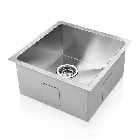 Sink 44 X 44 cm Stainless Steel Kitchen Sink Under/Topmount Sinks Laundry Bowl Silver