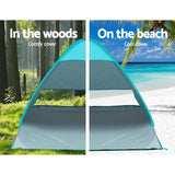 Pop Up Beach Tent Camping Hiking 3 Person Sun Shade Fishing Shelter
