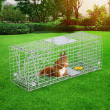 Cage Safe Easy Trap buy Set of 2 Humane Animal Enclosure Cage 66 x 23 x 25cm  - Silver