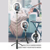 Selfie Stick Bluetooth Ring Light Selfie Stick and Tripod stand