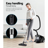 Vacuum Cleaner  Cyclonic Vac Home Office Car 2200W Black Bagless Cyclone