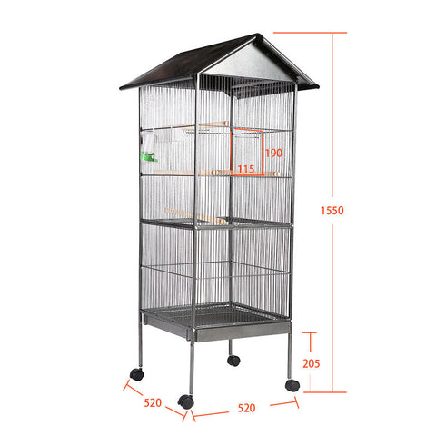 Tall Cage Metal With Wire Mess Plus Accesories Portable