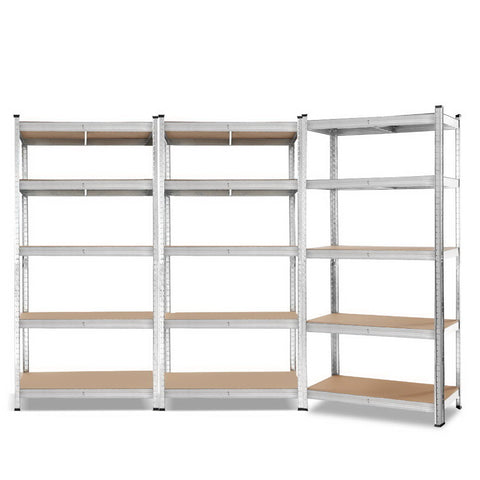 3x0.9M WAREHOUSE Shelving Shelves Rack Racking Storage Garage Steel Metal