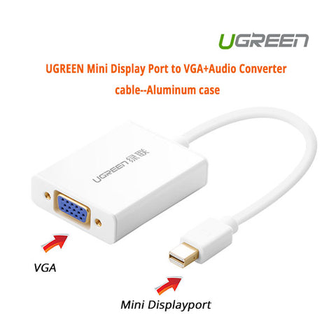 Mini Display Port to VGA+Audio Converter cable (10437)