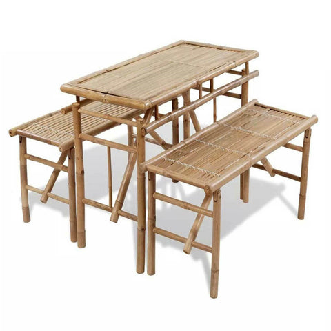 Natural Materials Set Table and Seats, set three items Bamboo