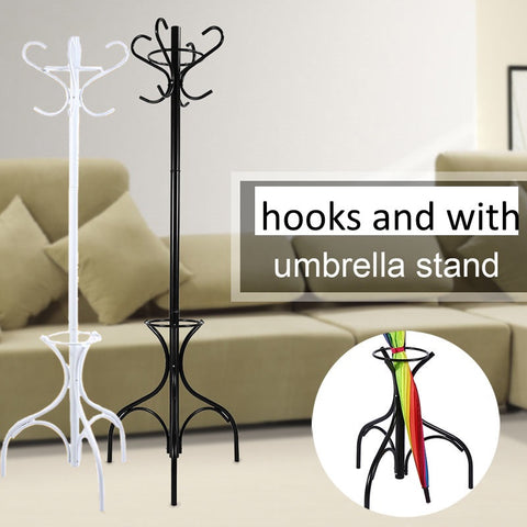 Hanger Tall Metal Hooks Convenient Coat Rack