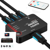 Cables Connect Hdmi Split Console Use For 3 Devices With Remote  jol9191FA