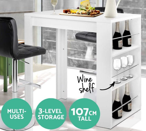 Table Shelves Bar Table Stand Storage jolhomitto