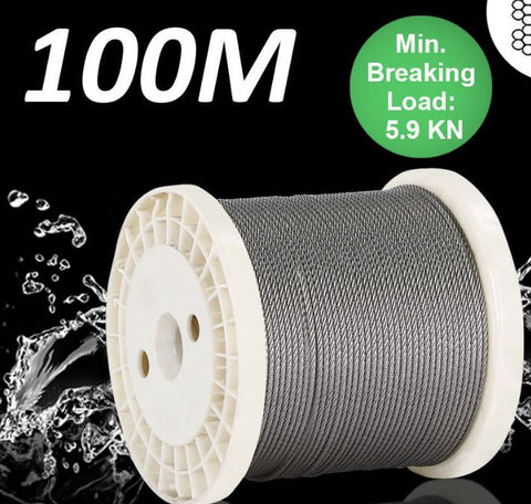 Boats Cars Accessories Cable Wire Stainless Steel 100M