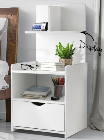 Stand Side Table Bed site With Extra Shelf  jolwhitop