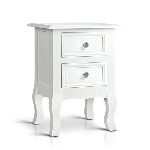 Side Tables Classic Store or décor with Drawers White
