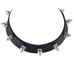 Steampunk Gothic Spiked Choker Necklace