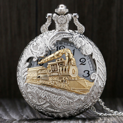 SteamPunk Stainless Steel Vintage Pocket Watch & Pendant
