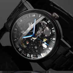 Steampunk Men's Stainless Steel Mechanical Watch