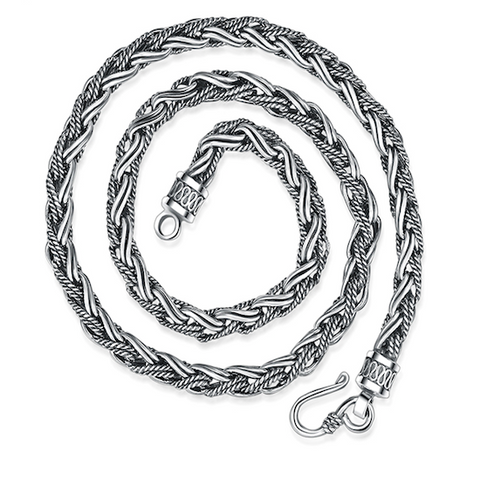 VIP Solid Silver Handmade Men's Peace Chain Necklace