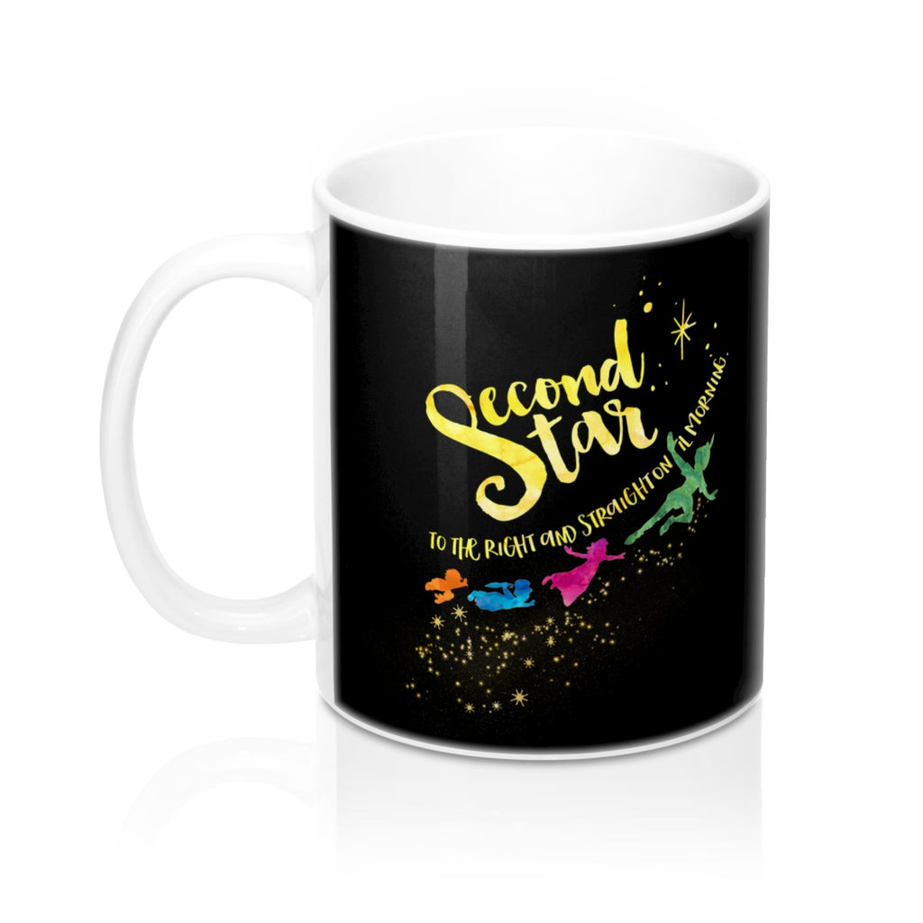 Second star to the right... Peter Pan Quote Mug - LitLifeCo.