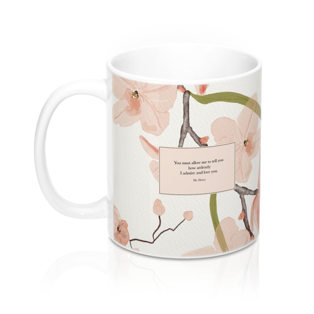 You must allow me to tell you... Mr. Darcy Quote Mug - LitLifeCo.