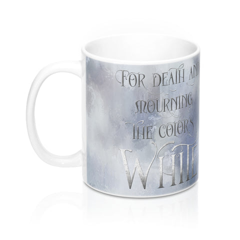 WHITE SILK when our bodies burn. Shadowhunter Children's Rhyme Mug - LitLifeCo.
