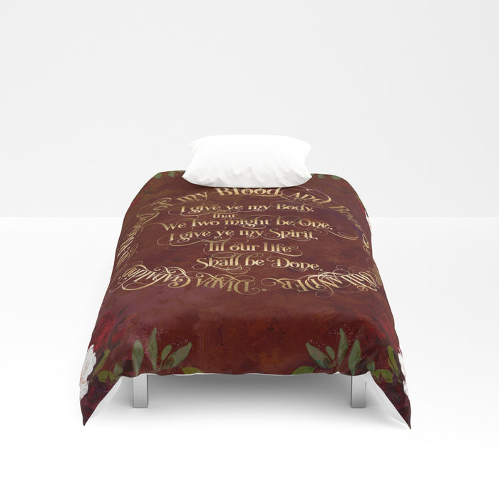 Outlander Wedding Vows Duvet Cover - LitLifeCo.