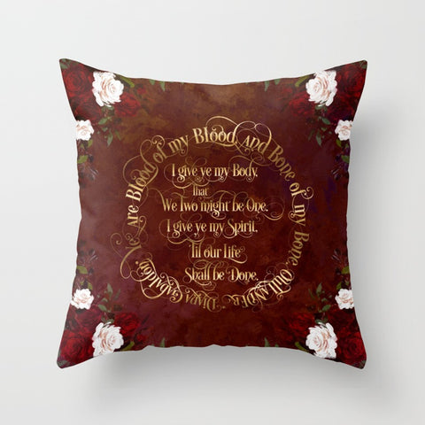 Outlander Wedding Vows Quote Pillow - LitLifeCo.