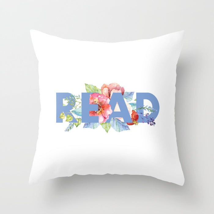 READ Floral Pillow