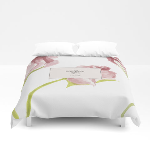 I am catastrophically in love with you. Will Herondale Quote Duvet Cover - LitLifeCo.