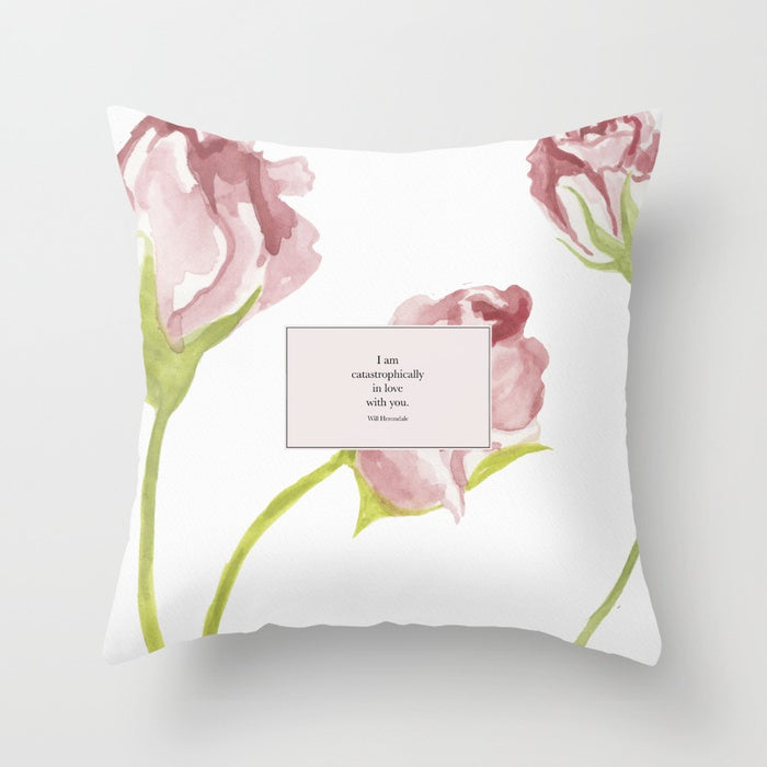 I am catastrophically in love... Will Herondale Pillow - Literary Lifestyle Company