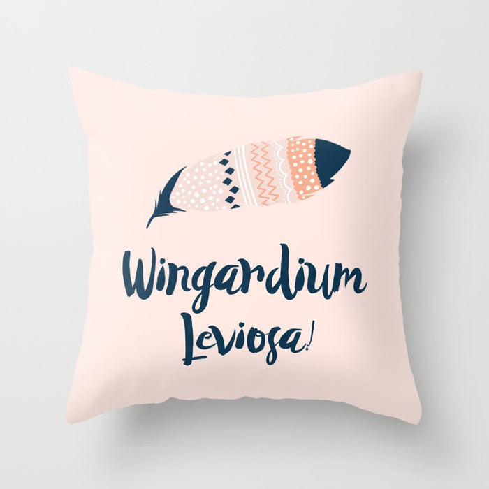 Wingardium Leviosa! Harry Potter Pillow - Literary Lifestyle Company