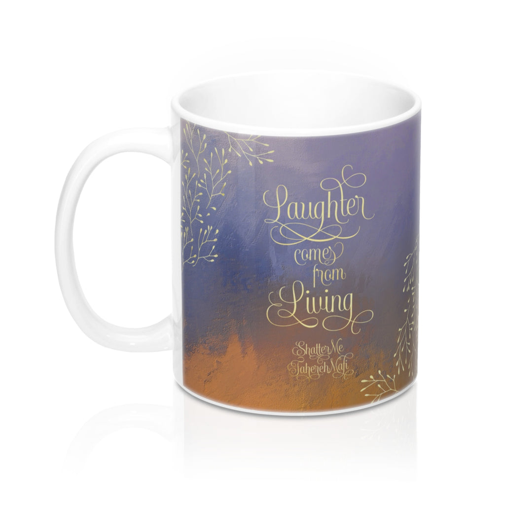 Laughter comes... Shatter Me Quote Mug - LitLifeCo.