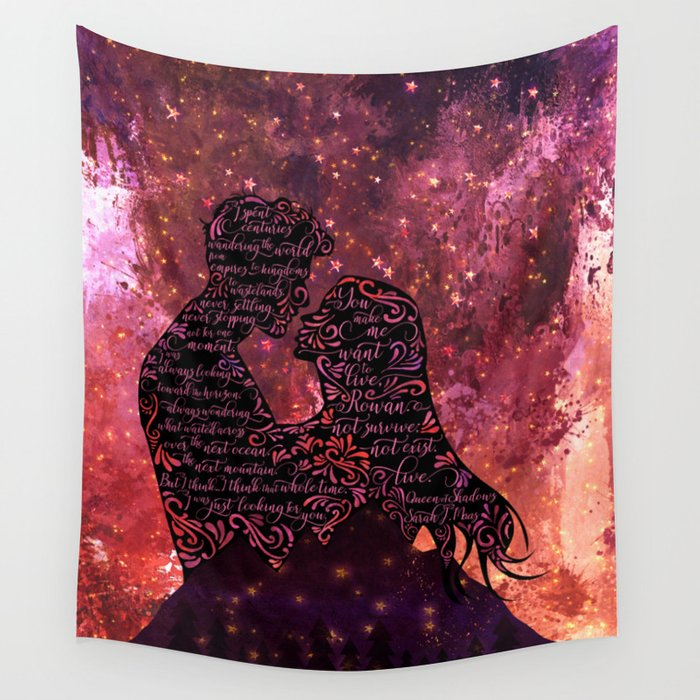 I spent centuries... Queen of Shadows (Throne of Glass Series) Quote Wall Tapestry - LitLifeCo.